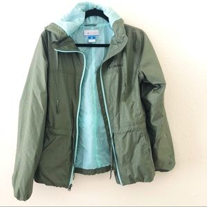 Green Size M Columbia Rain Jacket